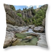 Restonica Valley - Corsica Throw Pillow