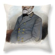 Robert E. Lee (1807-1870) Throw Pillow by Granger