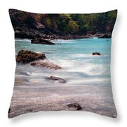 Rocky Seashore Throw Pillow