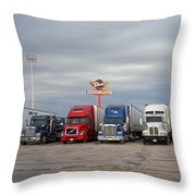 Route 66 - Dixie Truckers Home Throw Pillow