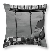 Route 66 - Mule Trading Post Throw Pillow