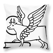Saint Luke Throw Pillow