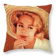 Sandra Dee, Vintage Actress Throw Pillow