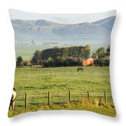 Scottish Scenery Throw Pillow