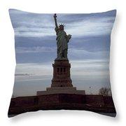 Statue Of Liberty Photograph Throw Pillow