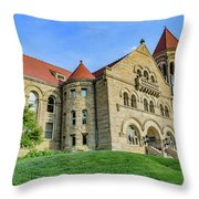 Stewart Hall At West Virginia University Throw Pillow