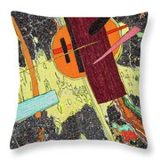 Circle And Hammer In The Space Throw Pillow