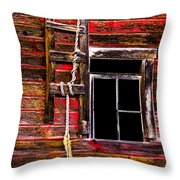 Sunny Farm Throw Pillow