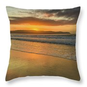 Sunrise Seascape At The Beach Throw Pillow
