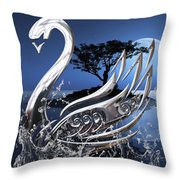 Swan Art. Throw Pillow