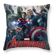 The Avengers Age Of Ultron 2015  Throw Pillow