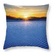The Unique And Beautiful White Sands National Monument In New Mexico. Throw Pillow