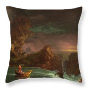 The Voyage Of Life, Manhood Throw Pillow