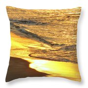 The Wave In Blue Throw Pillow