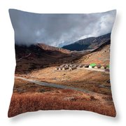 Top View Of Kupup Valley, Sikkim, Himalayan Mountain Range Throw Pillow