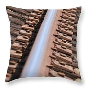 Train Track Throw Pillow