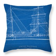 U.s. Coast Guard Cutter Northland Throw Pillow