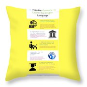 5 Valuable Reasons To Learn The English Language Throw Pillow