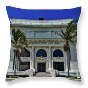 Ventura City Hall Throw Pillow