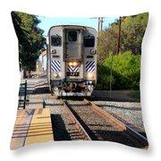 Ventura Train Station Throw Pillow