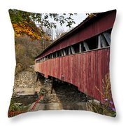 Vermont Covered Bridge Throw Pillow