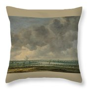 View Of Haarlem And The Haarlemmer Meer Throw Pillow