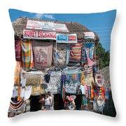 Village Of Coba Throw Pillow