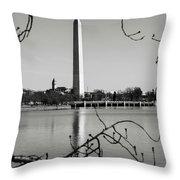 Washington Memorial In Washington Dc Throw Pillow