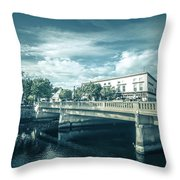 Westerly Is A Town On The Southwestern Shoreline Of Washington C Throw Pillow