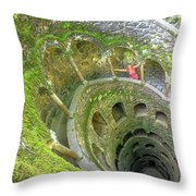 Woman Tourist In Sintra Throw Pillow