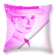 Audrey Hepburn Collection Throw Pillow