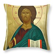 jesus Christ Son Of God Throw Pillow