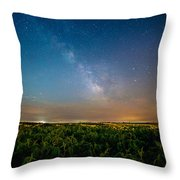 50 Miles From Chicago On A Summer Night Throw Pillow