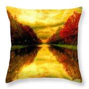 Painters Landscape Throw Pillow