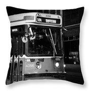 504 Streetcar Throw Pillow