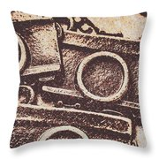 50s Brownie Cameras Throw Pillow