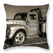 50's Wrecker Truck Throw Pillow