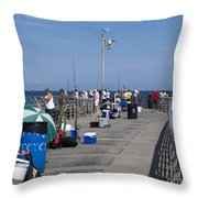 Sebastian Inlet State Park In Florida Throw Pillow