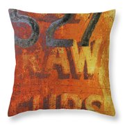 527 Raw Furs Throw Pillow