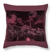 52nd Street Miles And Coltrane Throw Pillow