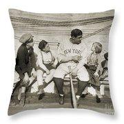George H. Ruth (1895-1948) Throw Pillow