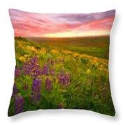 D J Landscape Throw Pillow