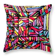 Jugglery Of Colors Throw Pillow