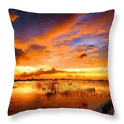W H Landscape Throw Pillow