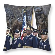54th Regiment Bos2015_183 Throw Pillow