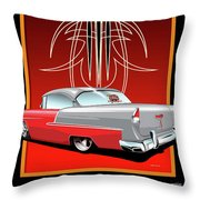55 Chevy Pinstriping Throw Pillow