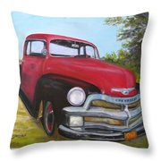 55 Chevy Truck Throw Pillow