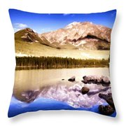 K Landscape Throw Pillow