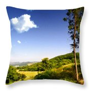 Paint Landscapes Throw Pillow