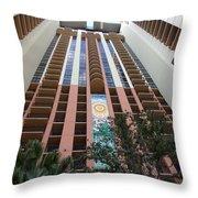 55 West Mural Throw Pillow